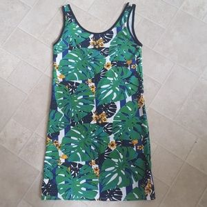 Topshop palm print mini dress